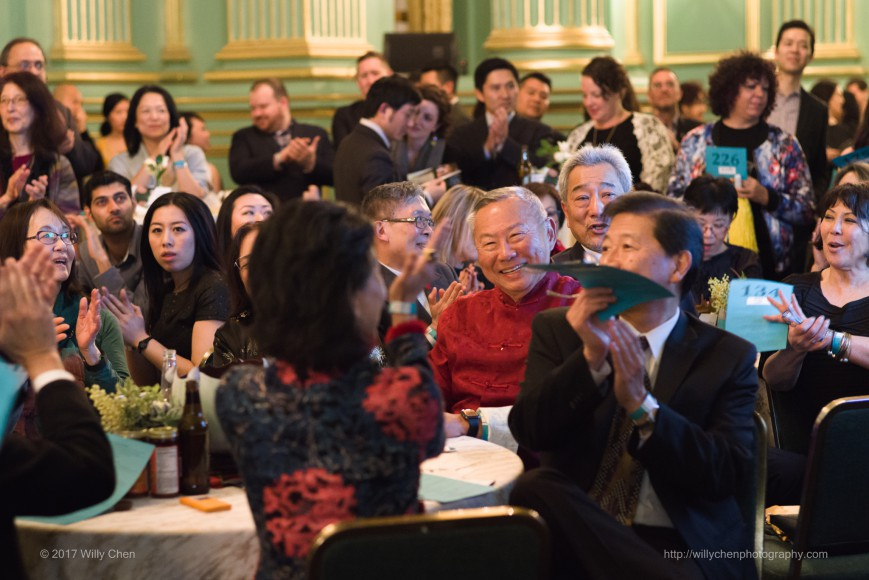 CAAMFeast 2017 attendees enjoy the live auction. Photo by Willy Chen.