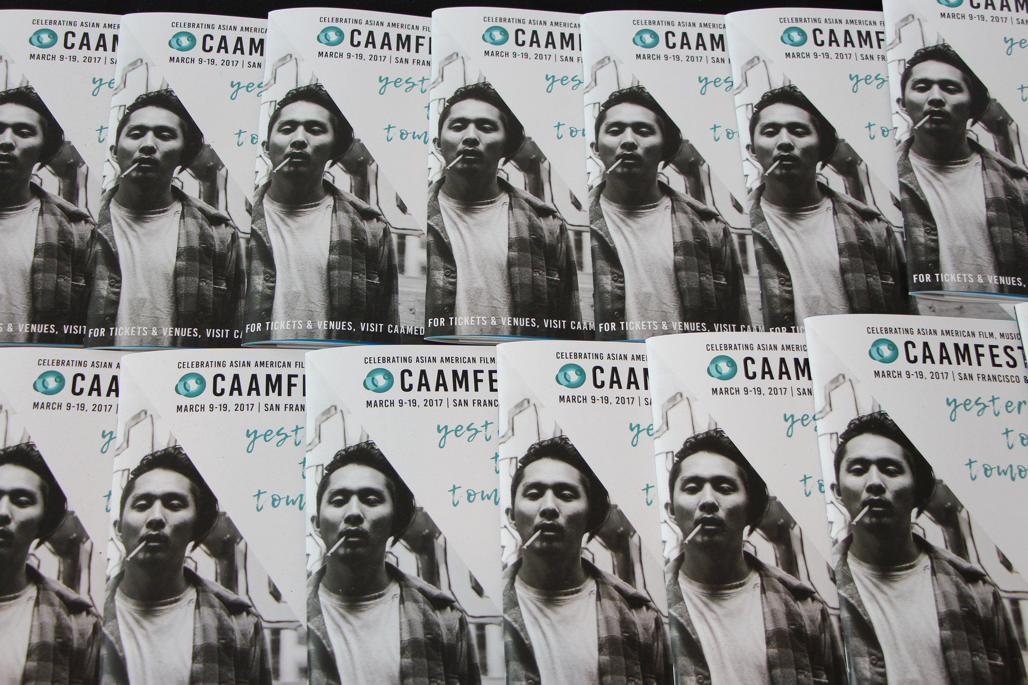 CAAMFest 2017 program guides with Justin Chon in