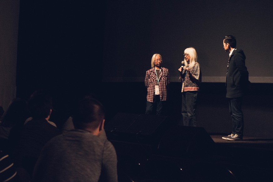 Emiko Omori (center) is a Spotlight Honoree at CAAMFest 2017. Photo by Czarina Garcia for CAAM.