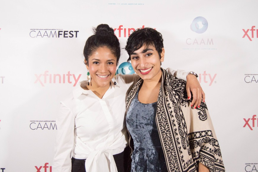 """Brown Girls"" writer Fatimah Asghar (Writer) and actress Nabila Hossain at CAAMFest 2017. Photo by Czarina Garcia for CAAM."