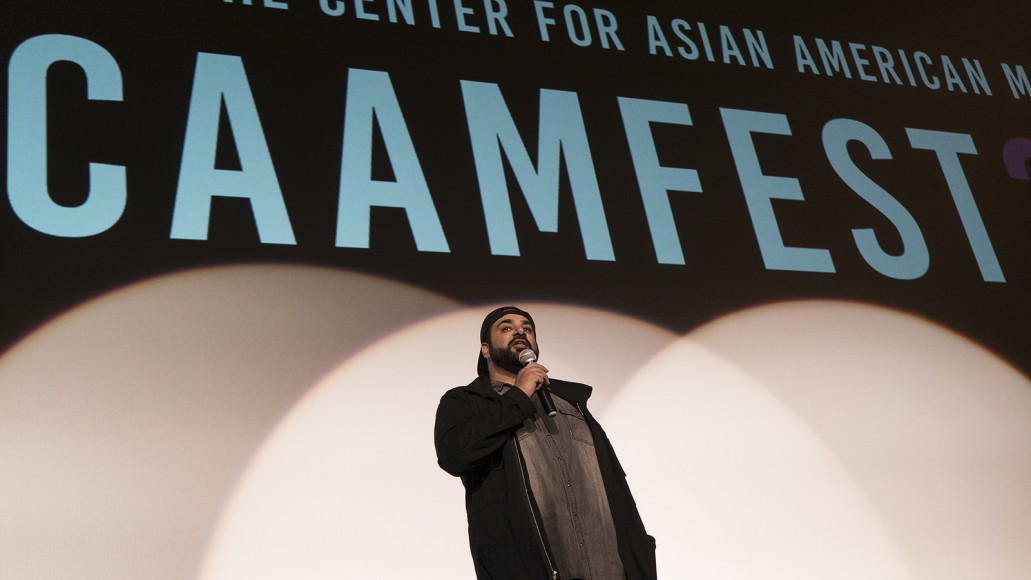 "Tanuj Chopra, director of ""Chee at Tee,"" at CAAMFest 2017. Photo by Gabe Chewy for CAAM."