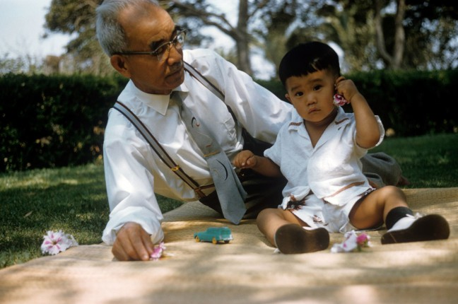 Paul Takemoto and his grandfather.