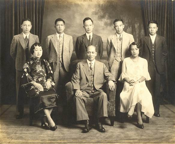 The Lim Family, American born and educated. The Chinese Exclusion Law made it difficult for the young generation to find employment, forcing many families to seek opportunities back in China. Lim Tong Family Archives.