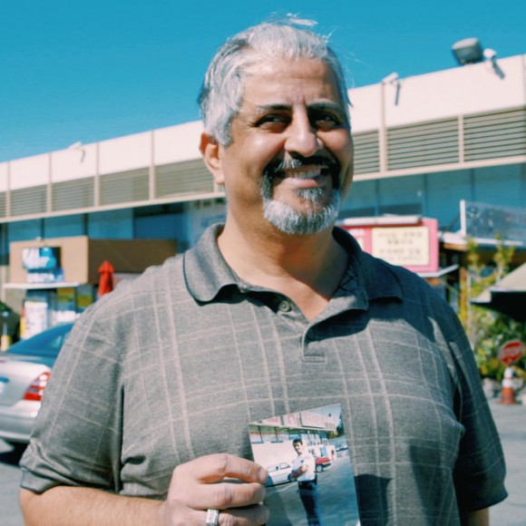 Mohamed Sanfaz, a Koreatown resident, was a parking lot security guard at HKMarket in Koreatown when he heard that businesses further south were being targeted. He organized a team of mostly Latino and Middle Eastern men to keep the property from being burned and looted.