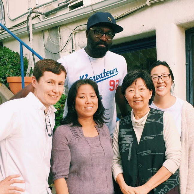 Angela Oh (second to right) spoke up in 1992 on behalf of the reality of Korean immigrants, who were not just merchants, victims, or paramilitary forces, which were the images that were reinforced by the media, but families who migrated to this country believing in a fair shot in a democracy. Photo credit: K-Town '92