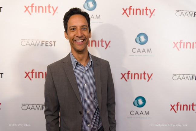 "Danny Pudi at CAAMFest 2017 for ""The Tiger Hunter."" Photo by Willy Chen for CAAM."