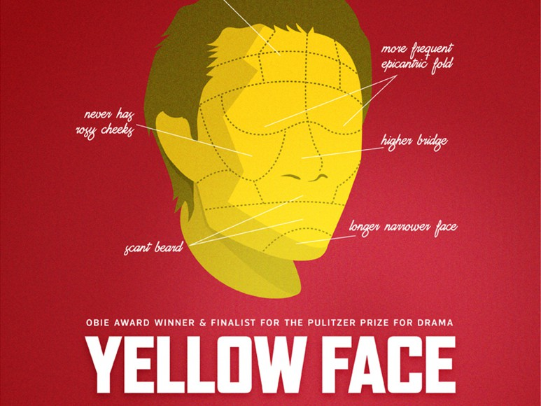 YELLOW FACE is about DHH, an Asian American playwright who casts Marcus, a Caucasian actor, in his new show after mistakenly believing Marcus is part Asian.