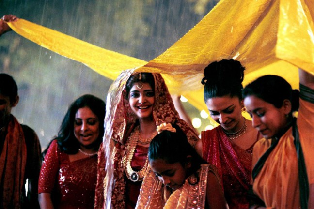 """Still from the film """"Monsoon Wedding,"""" directed by Mira Nair"""