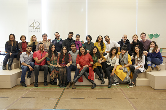 """The cast and crew of """"Monsoon Wedding,"""" premiering on stage at the Berkeley Rep on May 5 and directed by Mira Nair. Photo by Joan Marcus for Berkeley Repertory Theatre."""