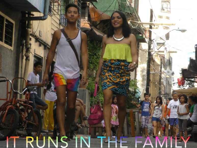 IT RUNS IN THE FAMILY is an intimate portrait of acceptance within the modern queer family. Cabalu follows her LGBTQ family members' lives as she learns from hearing about their experiences how to build more meaningful, respectful relationships. Directed by Joella Cabalu