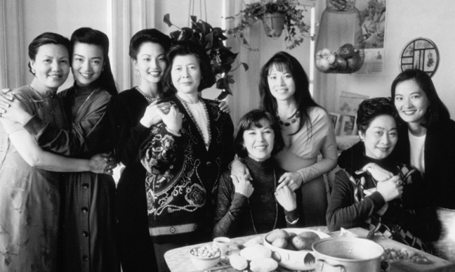 "The cast of ""The Joy Luck Club."" Tomita starred as Waverly."