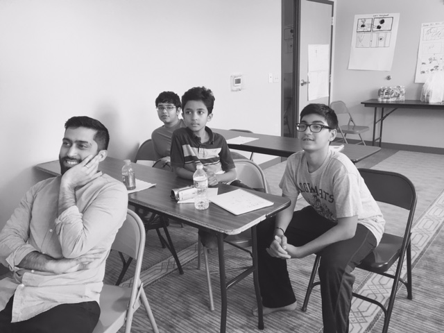 Muslim Youth Voices Project Dallas workshops from 2017. Photo by Production Manager Kristin Colaneri. Photo by Production Manager Kristin Colaneri.