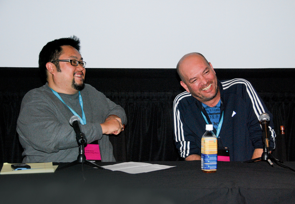 Anderson Le, left with filmmaker Stephane Gauger at CAAMFest in 2011.