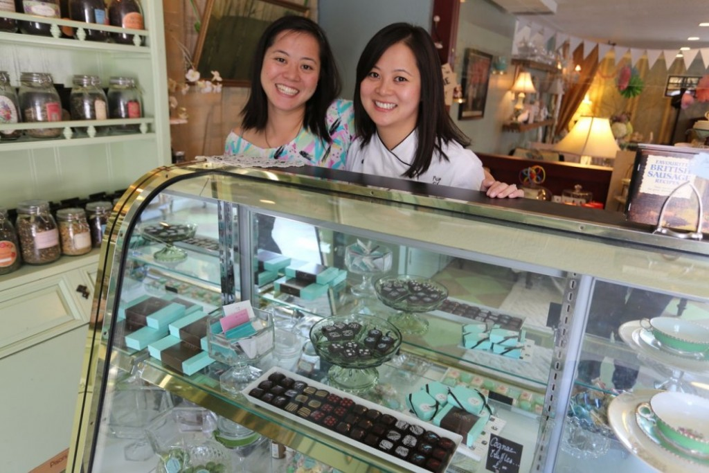 Susan Lieu, left, with her sister Wendy of Socola Chocolatier. Photo courtesy of Socola Chocolatier.