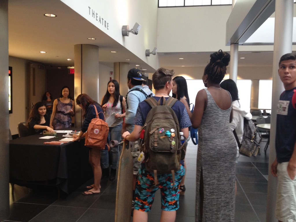 Students and community members at the Stony Brook University screening of Off the Menu: Asian America.