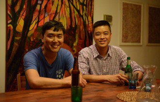 Jonathan Wu and Wilson Tang of Fung Tu restaurant.