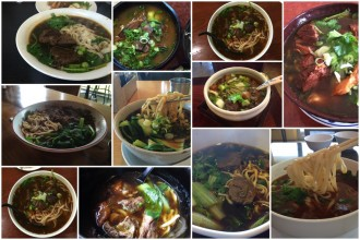 Beef noodle soups. Photo collage courtesy of Christine Chiao.
