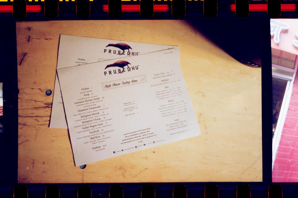 Prubechu's changing menu