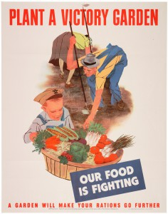 Plant A Victory Garden WWII poster. National Archives.