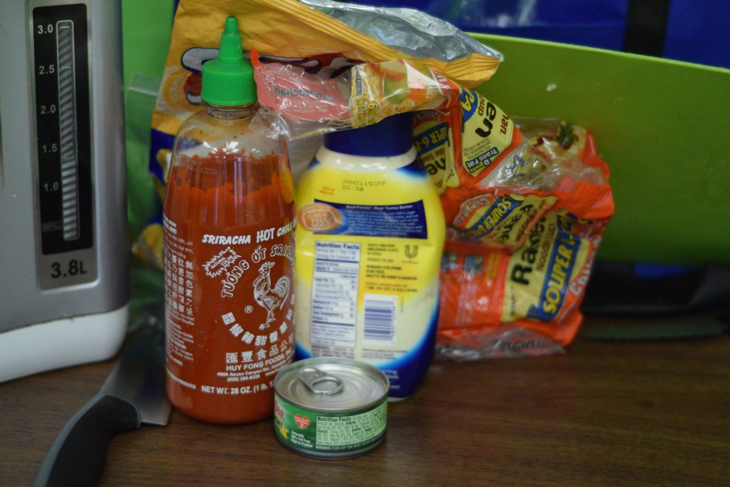 Some of the ingredients from the prison food cook-off. Photo by Kiwi Illafonte.